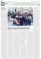 die tageszeitung taz (German daily) on islamism and migration in Brussels, Belgium, 03.2016.<br /> Picture: Arturas Morozovas