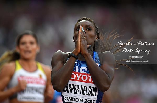 DawnHARPER NELSON (USA) in the womens 100m hurdles semi-finals. IAAF world athletics championships. London Olympic stadium. Queen Elizabeth Olympic park. Stratford. London. UK. 11/08/2017. ~ MANDATORY CREDIT Garry Bowden/SIPPA - NO UNAUTHORISED USE - +44 7837 394578