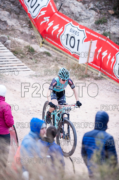 Chelva, SPAIN - MARCH 6: Chiara Teocchi during Spanish Open BTT XCO on March 6, 2016 in Chelva, Spain