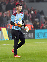 Burnley's Thomas Heaton during the pre-match warm-up <br /> <br /> Photographer Rich Linley/CameraSport<br /> <br /> The Premier League - Liverpool v Burnley - Sunday 12 March 2017 - Anfield - Liverpool<br /> <br /> World Copyright &copy; 2017 CameraSport. All rights reserved. 43 Linden Ave. Countesthorpe. Leicester. England. LE8 5PG - Tel: +44 (0) 116 277 4147 - admin@camerasport.com - www.camerasport.com