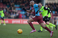 Marcus Williams of Scunthorpe Utd <br /> - Scunthorpe United vs Oldham Athletic - Sky Bet League One Football at Glanford Park, Scunthorpe, Lincolnshire - 07/02/15 - MANDATORY CREDIT: Mark Hodsman/TGSPHOTO - Self billing applies where appropriate - contact@tgsphoto.co.uk - NO UNPAID USE