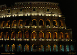 Colosseum at Night Northwest side Rome