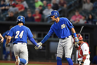 ***Temporary Unedited Reference File***Omaha Storm Chasers left fielder Jose Martinez (30) during a game against the Memphis Redbirds on May 5, 2016 at AutoZone Park in Memphis, Tennessee.  Omaha defeated Memphis 5-3.  (Mike Janes/Four Seam Images)