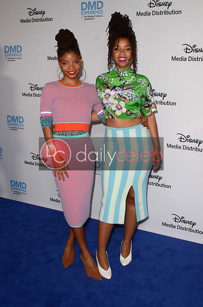 Chloe and Halle<br /> at the Disney ABC International Upfront, Walt Disney Studios, Burbank, CA 05-20-18<br /> David Edwards/DailyCeleb.com 818-249-4998
