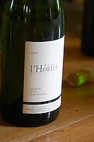 Bergerie de l'Hortus Vin de Pays du Val de Montferrand. Domaine de l'Hortus. Pic St Loup. Languedoc. France. Europe. Bottle.