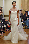 Model walks runway in an Akira bridal gown from the Peter Langner Bridal collection 2017, at the 3 West Club on April 16, 2016 during New York Bridal Fashion Week Spring Summer 2017.