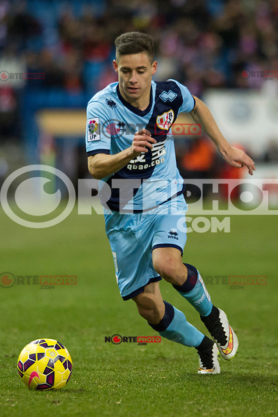 Rayo Vallecano&acute;s Alex Moreno during 2014-15 La Liga match between Atletico de Madrid and Rayo Vallecano at Vicente Calderon stadium in Madrid, Spain. January 24, 2015. (ALTERPHOTOS/Luis Fernandez) /NortePhoto<br />