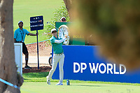 Dylan Frittelli (RSA) on the 13th tee during the 1st round of the DP World Tour Championship, Jumeirah Golf Estates, Dubai, United Arab Emirates. 15/11/2018<br /> Picture: Golffile | Fran Caffrey<br /> <br /> <br /> All photo usage must carry mandatory copyright credit (&copy; Golffile | Fran Caffrey)