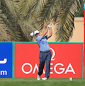 Richard Sterne (RSA) in action during the first round of the 2013 Omega Dubai Desert Classic being played over the Majlis Golf Course, Emirates Golf Course from 31st January to 3rd February 2013: Picture Stuart Adams www.golftourimages.com/www.golffile.ie:  31st January 2013