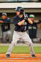 Keith Werman (2) of the Pulaski Mariners at bat against the Burlington Royals at Burlington Athletic Park on June20 2013 in Burlington, North Carolina.  The Royals defeated the Mariners 2-1 in 13 innings.  (Brian Westerholt/Four Seam Images)