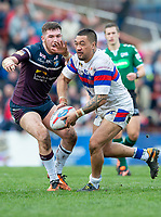Picture by Allan McKenzie/SWpix.com - 08/04/2018 - Rugby League - Betfred Super League - Wakefield Trinity v Leeds Rhinos - The Mobile Rocket Stadium, Wakefield, England - Tinirau Arona.