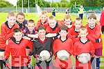 Fossa NS displaying their skills at the National Schools football blitz in Dr Crokes GAA grounds on Friday front row l-r: Matthew Rennie, Alexander Graham, Diarmuid Burke, Kevin Brooks. Back row: Adrian Cronin, Daniel O'Connell, Colm Walsh, Brian Myers, Shane Cronin, Michael O'Keeffe, Oisin Sheehan and Cathal Talbot.   Copyright Kerry's Eye 2008