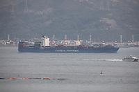 The Container Ship Xin Nan Sha in the South China Sea, Hong Kong on 8.4.19.