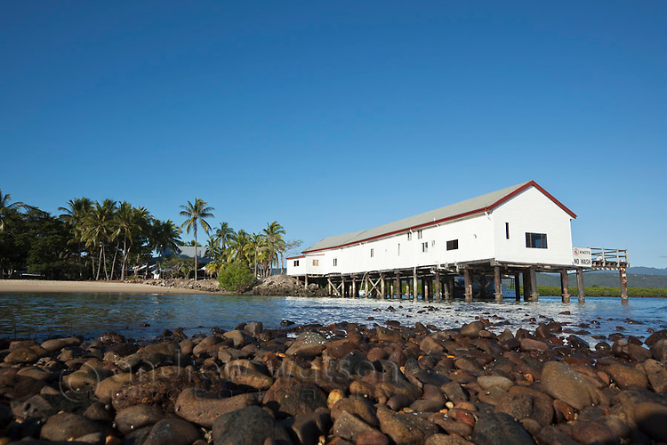The historic Sugar Wharf building.  Port Douglas, Queensland, Australia