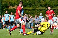ANNEN - Voetbal, Annen - FC Groningen, voorbereiding seizoen 2017-2018, 09-07-2017, FC Groningen speler Ritsu Doan passeert Annen doelman
