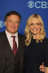 "All My Children Sarah Michelle Gellar and Robin Williams star in ""The Crazy Ones"" at the CBS Upfront on May 15, 2013 at Lincoln Center, New York City, New York. (Photo by Sue Coflin/Max Photos)"