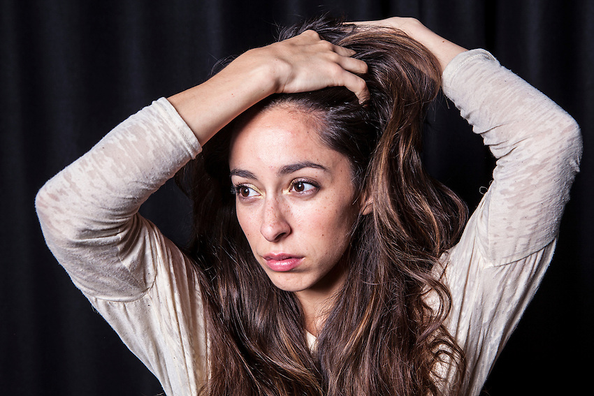 "Oona Chaplin, actor, photographed in London. She is the granddaughter of Charlie Chaplin, Great granddaughter of Eugene O'Neill and daughter of Geraldine Chaplin and Patricio Castilla. She is in the new BBC Series of ""The Hour""."