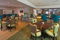 The restaurant of the Carmel Mission Inn in Carmel, California.