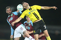 Burnley'sbattles with Burton Albion's Scott Fraser<br /> <br /> Photographer Mick Walker/CameraSport<br /> <br /> The Carabao Cup Round Three   - Burton Albion  v Burnley - Tuesday  25 September 2018 - Pirelli Stadium - Buron On Trent<br /> <br /> World Copyright &copy; 2018 CameraSport. All rights reserved. 43 Linden Ave. Countesthorpe. Leicester. England. LE8 5PG - Tel: +44 (0) 116 277 4147 - admin@camerasport.com - www.camerasport.com