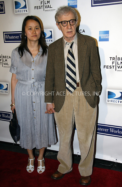 WWW.ACEPIXS.COM . . . . . ....April 22 2009, New York City....Woody Allen and Soon-Yi Previn arriving at the premiere of 'Whatever Works' during the 2009 Tribeca Film Festival at Ziegfeld on April 22, 2009 in New York City.....Please byline: NANCY RIVERA - ACEPIXS.COM.. . . . . . ..Ace Pictures, Inc:  ..tel: (212) 243 8787 or (646) 769 0430..e-mail: info@acepixs.com..web: http://www.acepixs.com
