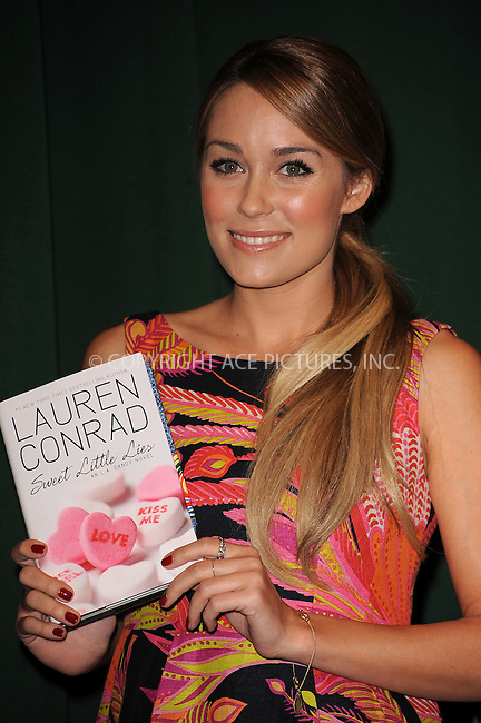 WWW.ACEPIXS.COM . . . . . ....February 3 2010, New York City....TV Personality Lauren Conrad signed copies of her new book 'Sweet Little Lies' at Barnes & Noble Tribeca on February 3, 2010 in New York City.....Please byline: KRISTIN CALLAHAN - ACEPIXS.COM.. . . . . . ..Ace Pictures, Inc:  ..(212) 243-8787 or (646) 679 0430..e-mail: picturedesk@acepixs.com..web: http://www.acepixs.com