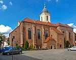 Zielona Góra (woj. lubuskie), 20.07.2013. Konkatedra św. Jadwigi w Zielonej Górze.