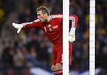 Allan McGregor arranges his defensive wall