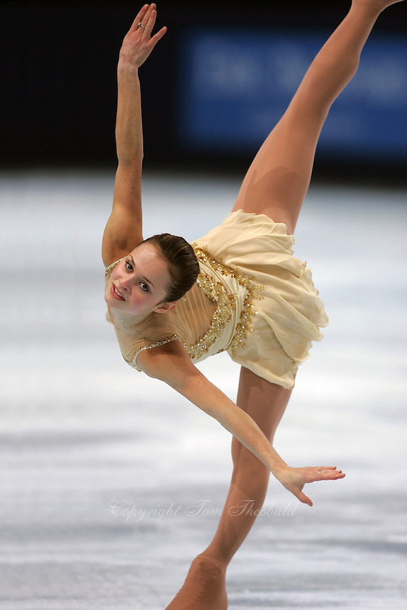 November 19, 2005; Paris, France; Figure skating star SASHA COHEN of USA skates to silver in ladies figure skating at Trophee Eric Bompard, ISU Paris Grand Prix competition.  Cohen is one of the favorites for medals in ladies at the Torino 2006 Olympics.<br />Mandatory Credit: Tom Theobald/<br />Copyright 2005 Tom Theobald
