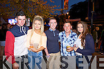 Dean Dillane, Laura Shine, Niall Carmody(Patrickswell), Adam Kavanagh (Templeglantine) and Saoirse Mulqueen(Parickswell) pictured last Saturday ahead of The Coronas for Westfest 2014