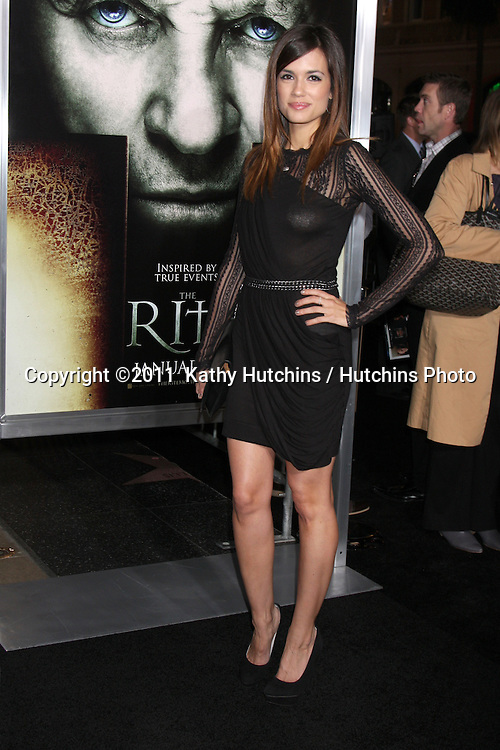 """LOS ANGELES - JAN 26:  Torrey DeVitto arrives at """"The Rite"""" Premiere at Grauman's Chinese Theater on January 26, 2011 in Los Angeles, CA"""