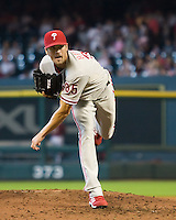 Hamels, Cole 6313.jpg Philadelphia Phillies at Houston Astros. Major League Baseball. September 6th, 2009 at Minute Maid Park in Houston, Texas. Photo by Andrew Woolley.