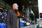 An irate Barnet fan gives the players the benefit of his opinion. Stockport County v Barnet, 07032020. Edgeley Park, National League. Photo by Paul Thompson.