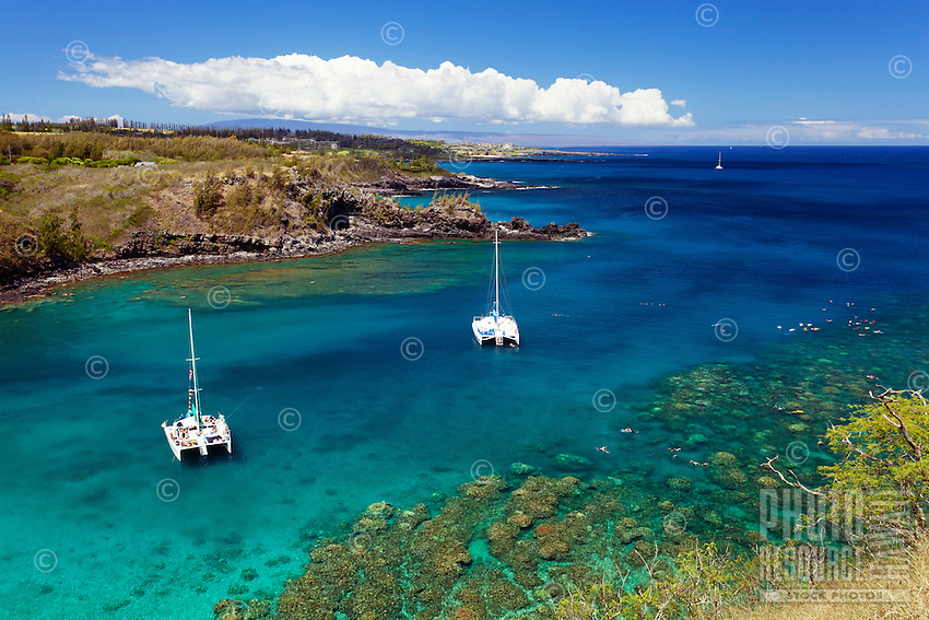 Honolua Bay, Maui, is a prime spot for snorkeling in the summer.