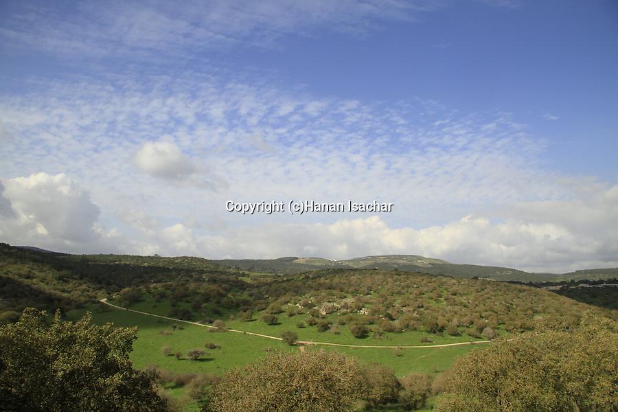Israel, Lower Galilee, a view from Alon Tavor Field School