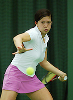10-3-06, Netherlands, tennis, Rotterdam, National indoor junior tennis championchips, Florence Nah