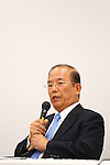 Toshiro Muto, SEPTEMBER 1, 2015 :  The Tokyo Organising Committee of the Olympic and Paralympic Games holds a media conference in Tokyo, Japan. The Tokyo Organising Committee announced that it would cease to use the controversial emblem for the 2020 Tokyo Olympic and Paralympic Games which has become the subject of claims of plagiarism. (Photo by Shingo Ito/AFLO SPORT)