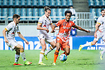 Jeju United Forward Magno Da Cruz (R) fights for the ball with Adelaide United Defender Michael Marrone (L) during the AFC Champions League 2017 Group Stage - Group H match between Jeju United FC (KOR) vs Adelaide United (AUS) at the Jeju World Cup Stadium on 11 April 2017 in Jeju, South Korea. Photo by Marcio Rodrigo Machado / Power Sport Images