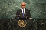 Maldives<br /> H.E. Mr. Mohamed Asim<br /> Minister for Foreign Affairs<br /> <br /> <br /> General Assembly Seventy-first session 20th plenary meeting<br /> <br /> General Debate