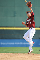 Temple University Owls infielder Reyn Sugai (5) during practice before a game against the University of Louisville Cardinals at Campbell's Field on May 10, 2014 in Camden, New Jersey. Temple defeated Louisville 4-2.  (Tomasso DeRosa/ Four Seam Images)