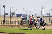 Ashley Chesters (ENG) and Alexander Levy (FRA) on the 12th during the final round of  the Saudi International powered by Softbank Investment Advisers, Royal Greens G&CC, King Abdullah Economic City,  Saudi Arabia. 02/02/2020<br /> Picture: Golffile | Fran Caffrey<br /> <br /> <br /> All photo usage must carry mandatory copyright credit (© Golffile | Fran Caffrey)