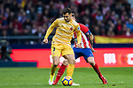 Alex Granule Nogue (L) of Girona FC in action during the La Liga 2017-18 match between Atletico de Madrid and Girona FC at Wanda Metropolitano on 20 January 2018 in Madrid, Spain. Photo by Diego Gonzalez / Power Sport Images