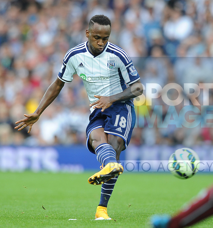 File picture of Saido Berahino of West Bromwich Albion who has been named in the England squad today  - Barclays Premier League - West Bromwich Albion vs Burnley - The Hawthorns - West Bromwich - England - 28th September 2014 - Pic Robin Parker/Sportimage
