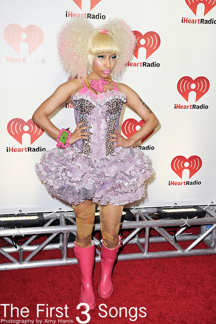 LAS VEGAS - SEPTEMBER 24: Nicki Minaj appears on the red carpet at the 2011 iHeartRadio Music Festival on September 24, 2011 at the MGM Grand Garden Arena in Las Vegas, Nevada.