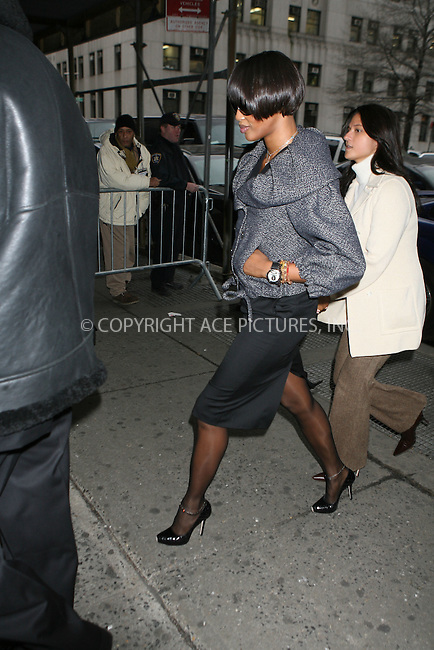 WWW.ACEPIXS.COM ** ** ** ....January 16, 2007, New York City.....Naomi Campbell arrives in at the Manhattan Criminal Court in New York. ....Please byline: Philip Vaughan -- ACEPIXS.COM.. *** ***  ..Ace Pictures, Inc:  ..Philip Vaughan (212) 243-8787 or (646) 769 0430..e-mail: info@acepixs.com..web: http://www.acepixs.com