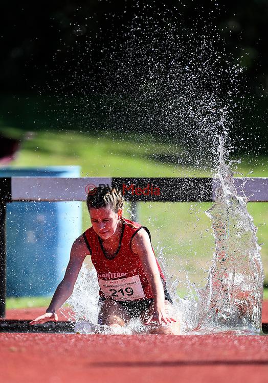 Natalie Dryden, Steeplechase. NZ Athletic Championships, Porritt Stadium, Hamilton, Waikato, New Zealand,  Sunday 19 March 2017. Photo: Simon Watts/www.bwmedia.co.nz