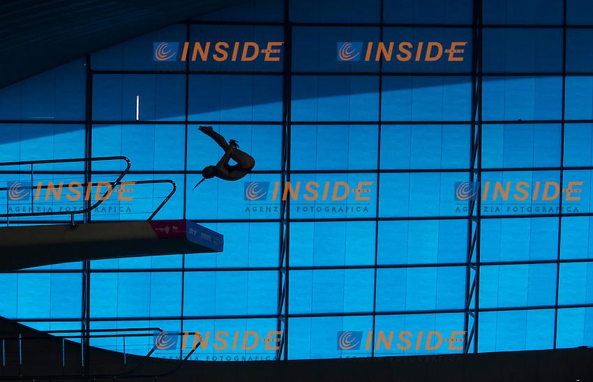 VAN DUIJN Celine NED<br /> London, Queen Elizabeth II Olympic Park Pool <br /> LEN 2016 European Aquatics Elite Championships <br /> Diving<br /> Women's 10m platform preliminary <br /> Day 05 13-05-2016<br /> Photo Giorgio Perottino/Deepbluemedia/Insidefoto