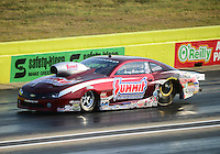 Sept. 21, 2012; Ennis, TX, USA: NHRA pro stock driver Greg Anderson during qualifying for the Fall Nationals at the Texas Motorplex. Mandatory Credit: Mark J. Rebilas-