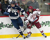 Rob O'Gara (Yale - 4), Jake Horton (Harvard - 91) - The visiting Yale University Bulldogs defeated the Harvard University Crimson 2-1 (EN) on Saturday, November 15, 2014, at Bright-Landry Hockey Center in Cambridge, Massachusetts.