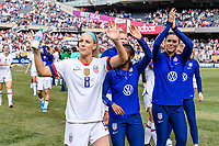 CHICAGO, IL - OCTOBER 06: Julie Ertz #8 of the United States during a game between the USA and Korea Republic at Soldier Field, on October 06, 2019 in Chicago, IL.