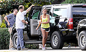Sasha Obama returns to the White House in Washington, D.C. after a walk at Great Falls Park in McLean, Virginia with her father, United States President Barack Obama, Sunday, June 29, 2014. <br /> Credit: Olivier Douliery / Pool via CNP